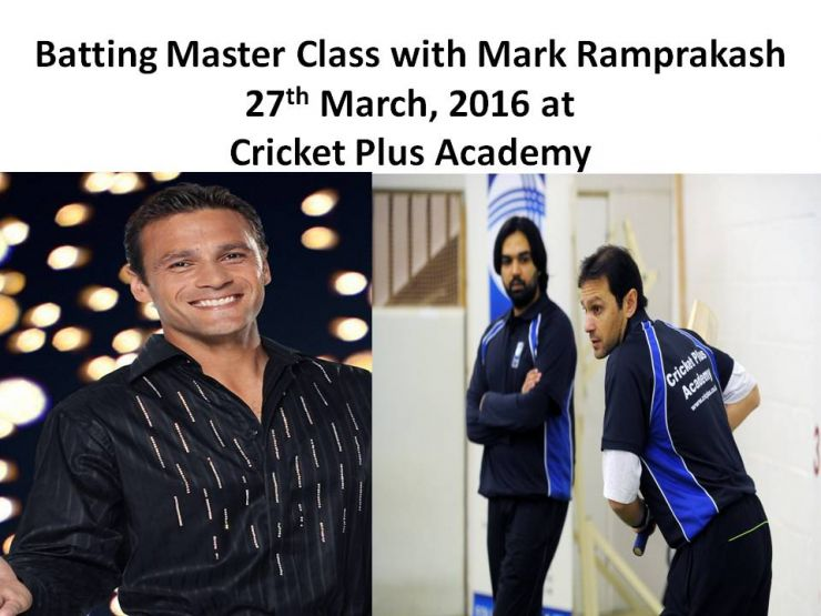 Batting Master Class with Mark Ramprakash on 27th March, 2016